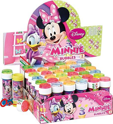 Fancy Me Box of 36 or 6 Bubble Pots - Boys Girls Disney Minnie Mouse Bubbles Party Loot Bag Stocking Fillers Garden Game Ideas 6 pots
