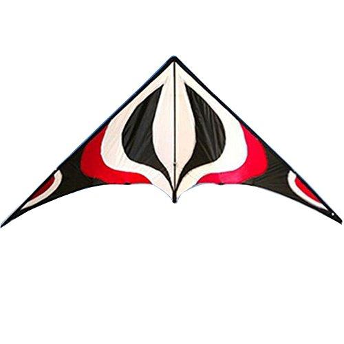 Babyeden Red Sport Prism Delta Dual-Line Stunt Kite 84-Inch