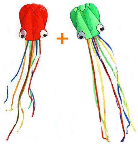 Boyu Easy Kites 2 Kites - Red and green beautiful kites