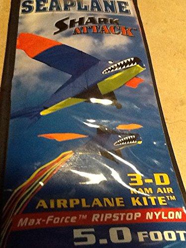 Seaplane Shark Attack 3-D Airplane Kite