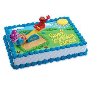 ELMO ABBY Cadabby Sesame Street Teeter Totter Cake Decoration Topper Decor Set
