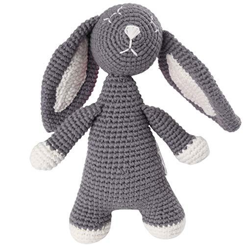 Organic Baby Toys - Grey Bunny Rabbit Stuffed Toy
