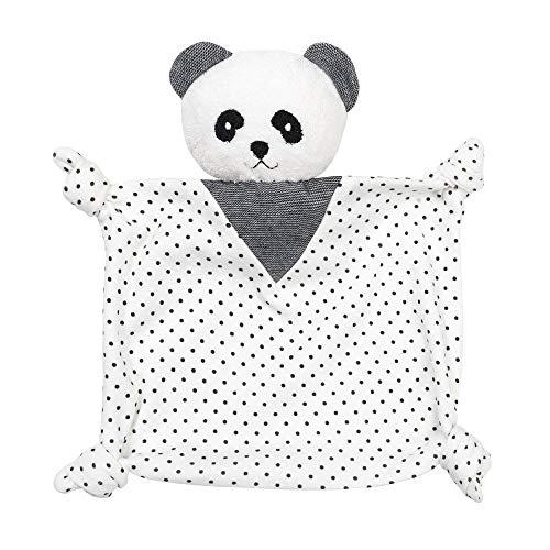 Under the Nile Organic Cotton Polka Dot Panda Blanket Friend Lovey Toy