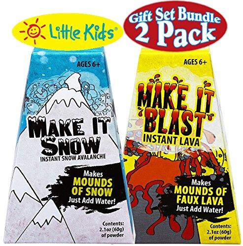 Little Kids Science Kits Make It Snow Instant Snow Make It Blast Instant Lava Gift Set Bundle - 2 Pack