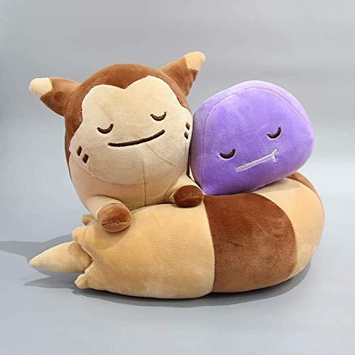 LFSLAS Furret Ditto Sentret Plush Cute Sleeping Sweet Doll Soft Stuffed Quality Toy for Children