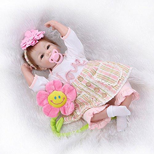 52cm 22 inch latest silicone reborn baby doll toys play house reborn baby bebe toy birthday gift girls brinquedos