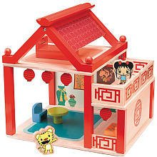 Ni Hao Kai-lan Wooden Playhouse with Figures