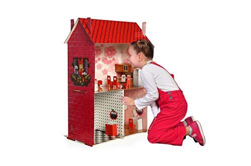 Easy Playhouse Dollhouses DreamHouse Cardboard Playhouse Modern Doll House