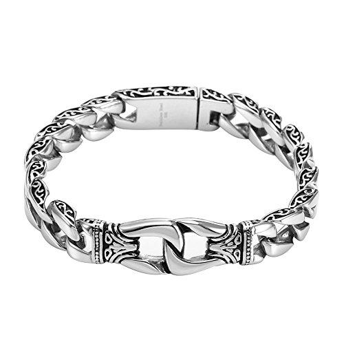 ANDI ROSE Fashion Jewelry Men Bangle Stainless Steel Bracelet Wristband Vintage