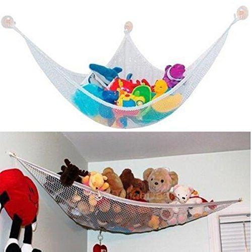 Yosoo Stuffed Animals Toys Organizer Toy Storage Deluxe Pet Hammock Net Jumbo Storage Organizer for Kids Pool Toys Sports Gear Towels Bedding