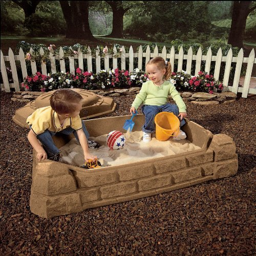 Kidz Rule Play Sand Box You can enjoy the summer months with this incredible sandbox featuring a fun sun theme in a contemporary design thats perfect for any backyard It blends easily with your landscaping theme while providing hours of provide amusem