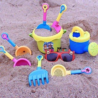 Han 9pcs Colorful Plastic Childrens Beach ToysRandom Color
