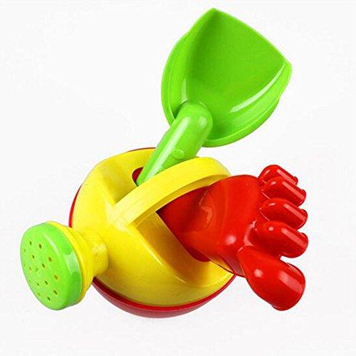 Sangdo 3PCS Baby Kids Dig Sand Rake Spade Shovel Kettle Foot Toys Children Beach Toys