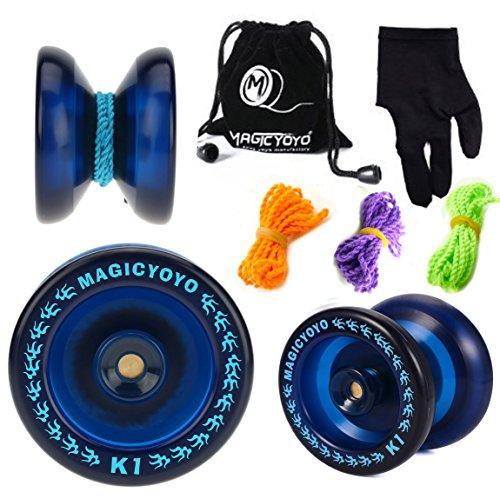 MAGICYOYO Responsive YoYo K1-Plus with Yoyo Sack  3 Strings and Yo-Yo Glove Gift Blue