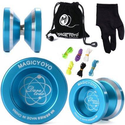 Magic YoYo N8 Unresponsive Yoyo Alloy Aluminum Yo Yo  6 Strings  GloveYoyo Bag Gift