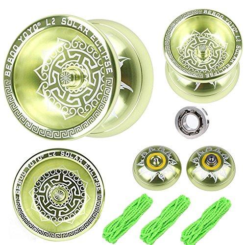 Light Yellow Professional Metal Unresponsive Yo-Yos Aluminum Pro yo yo Ball with String for yo yo toy