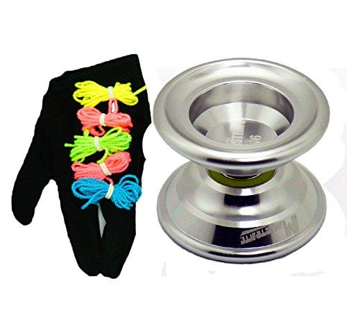 MAGICYOYO Magistrate N6 Unresponsive Professional Alloy Yoyo Silver Yoyo Glove5 Yoyo Strings