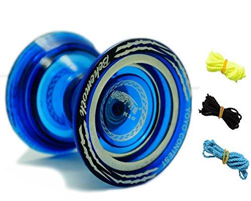MAGICYOYO Bi Metal YoYo K10 Plastic YoYo Professional Uresponsive YoYo Blue 3 Strings