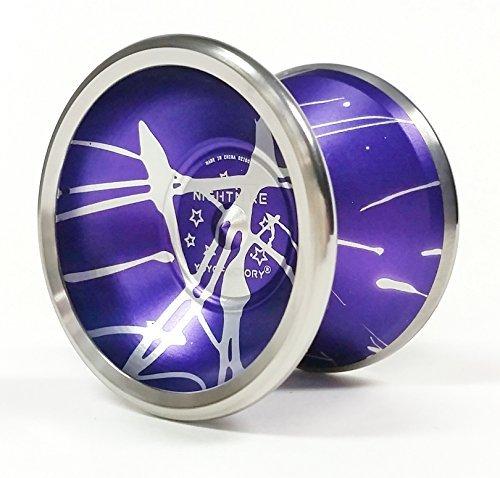 Nightmare BiMetal Yoyo by YoYoFactory Color Purple with Silver Splash