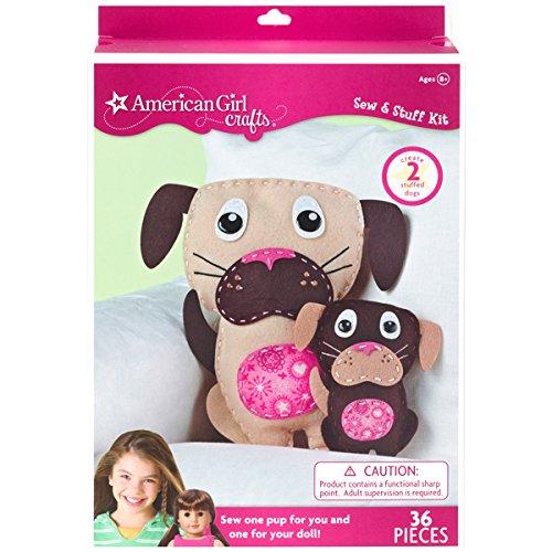 American Girl Crafts Dogs Sew Stuff Activity Kit - Makes 2 Stuffed Pups