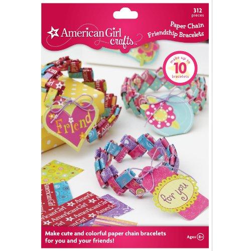 American Girl Crafts Paper Chain Friendship Bracelet Kit