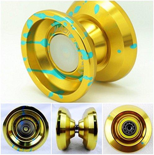 MAGICYOYO K9 Aluminum Alloy Yoyo Spin Toys Gold&Blue