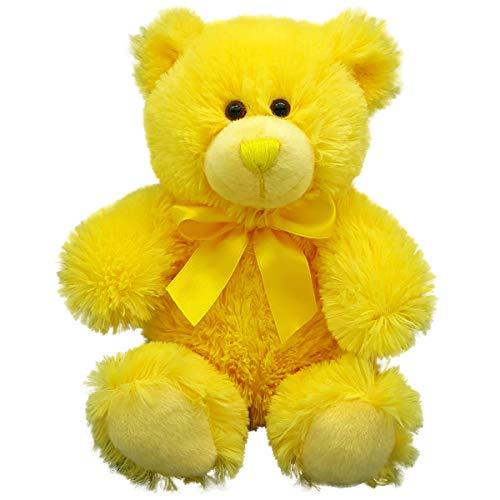 Anico Plush Teddy Bear Stuffed Animal Bright Yellow 8 Tall