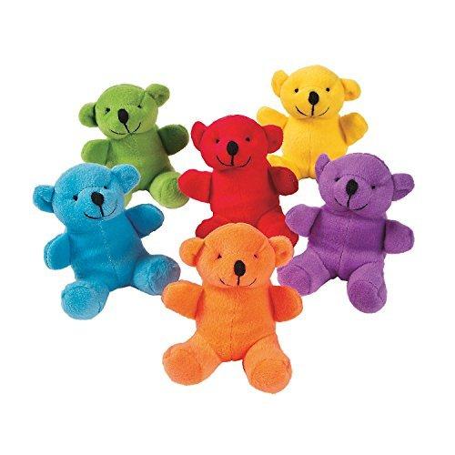 Fun Express Primary Plush Bears 1 Dozen