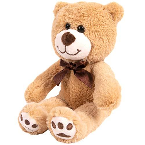 Kangaroo Your Baby 1st Teddy Bear - Stuffed Animal - Plush 12 Tan Bear with Brown Bow