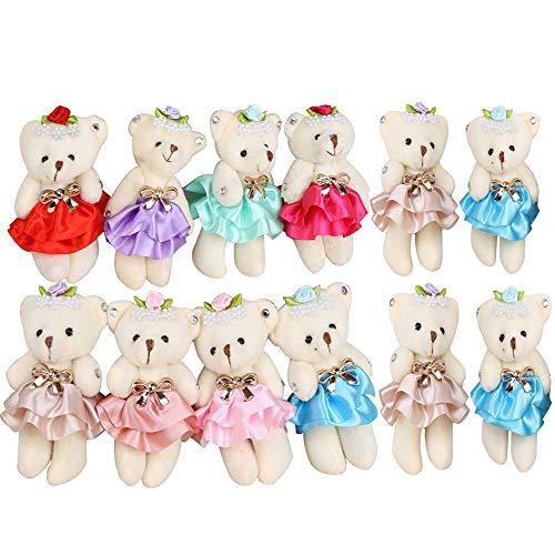 Sealive Stuffed Animals Plush Bears 1 Dozen Mini Bear Stuffed Animal Bulk Assorted Toys for Birthday Cake Wedding Decorations Party Favors Supplies