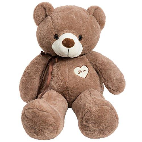 iBonny Teddy Bear Stuffed Animals Super Soft and Sweet Love Plush Bear Toy 32 Chocolate