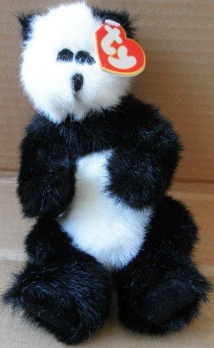 TY Attic Treasure Collection Checkers the Panda Bear Stuffed Animal Plush Toy
