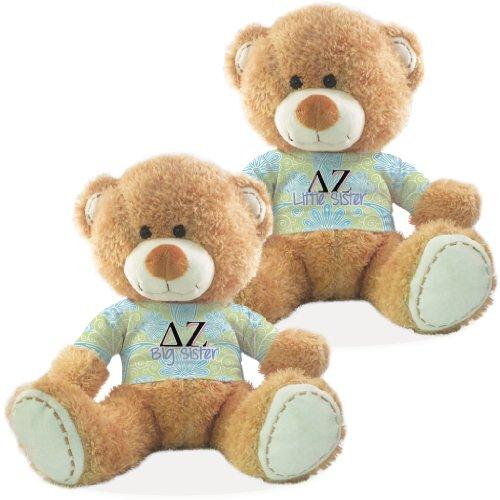 Delta Zeta Big Sister and Little Sister Teddy Bear Gift Set of 2