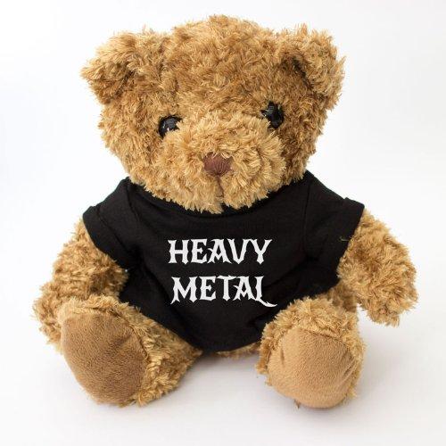 NEW Heavy Metal Teddy Bear - Cute And Cuddly - Original Rock Gift - Black T Shirt