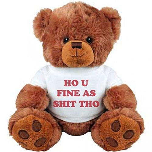 Funny Slang Valentine Bear Medium Plush Teddy Bear