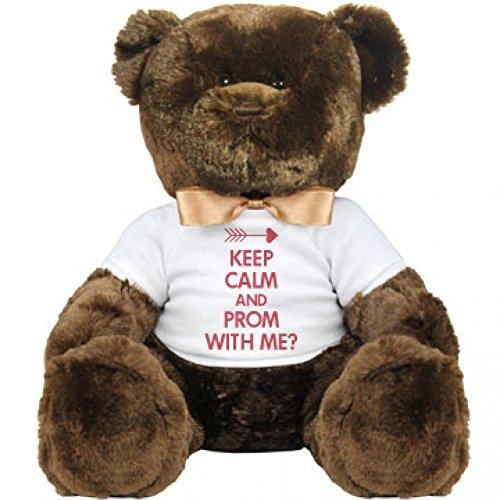 Keep Calm Prom With Me Large Plush Teddy Bear