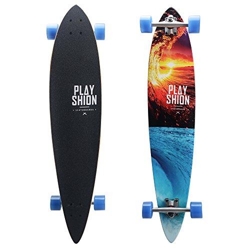 Playshion Cruising Pintail Longboard Skateboard  42 Inch