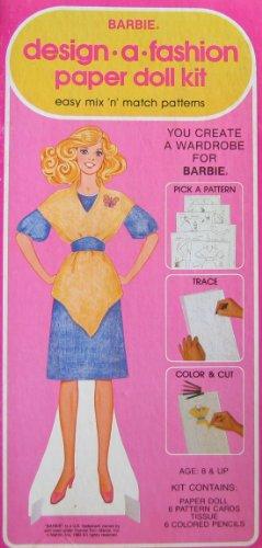 Barbie Design -A- Fashion Paper Doll Kit - Easy Mix N Match Patterns 1982 Western