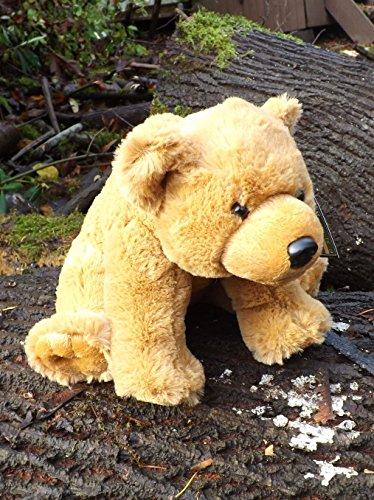 10 Plush Toy Grizzly Bear - Cuddly Stuffed Brown Bear