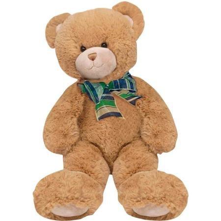 First Main Plush Stuffed Brown Bear 15 Sitting Position Adorable and Huggable