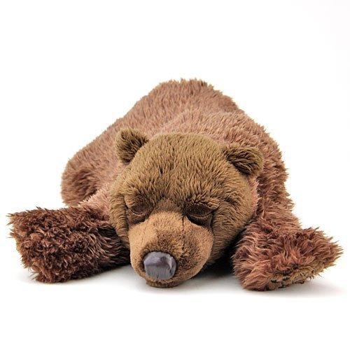 Real stuffed brown bear sleeping parent japan import