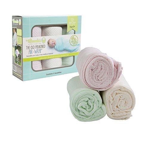 Woombie 3 Piece Organic Airwrap Vented Blankets Girl Pastels 44 by Woombie
