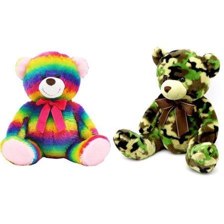 19 Snuggly and Cuddly Teddy Bear Camo and Rainbow