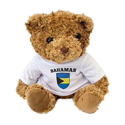 NEW - Bahamas Flag - Cute And Cuddly Teddy Bear - Birthday Gift Present Xmas Fan