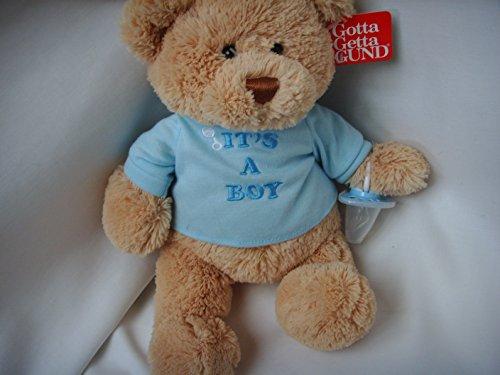 Baby Boy Teddy Bear Plush Toy 12 with Pacifier Beanie Bottom