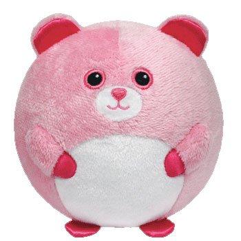 Ty Beanie Ballz Pinky Baby Bear Plush