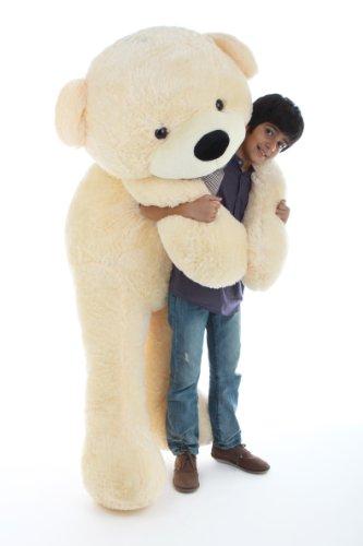 6 Foot Life-size Teddy Bear Cream Vanilla Color Smiling Face Giant Stuffed Animal Cozy Cuddles