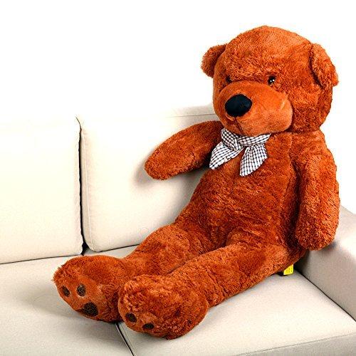 Huggable Super Soft 47 Jumbo Plush Teddy Bear Brown By Woodi