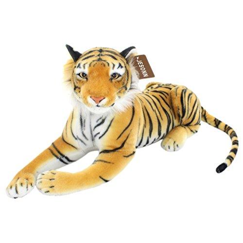 JESONN Realistic Giant Stuffed Animals Tiger Plush ToysBrown275 or 70 Centimeter1PC