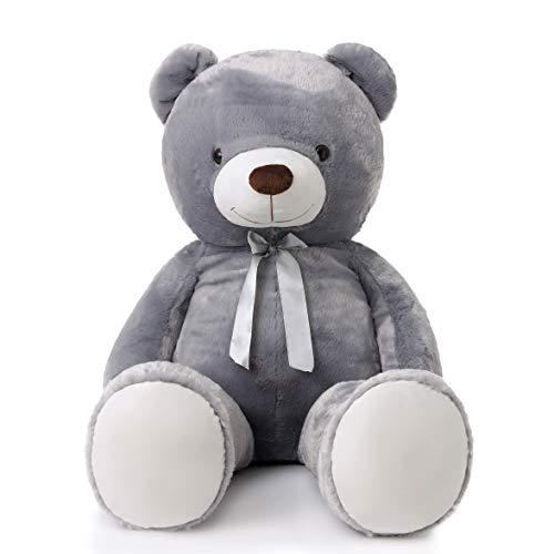 MorisMos Giant Teddy Bear Stuffed Animals Plush Toy for Girlfriend Kids Gray 47 Inch